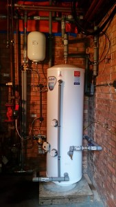 Newly installed unvented cylinder