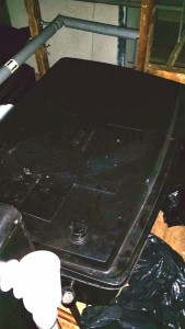 Tank insulation (Before)